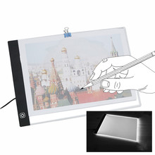 USB A4 LED Ultra Thin Art Facsimile Drawing Board Light Box Tracing Table Pad Artist Copy Desk Night Lighting Draw Stencil