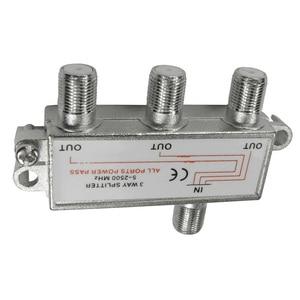 Image 2 - CLCU 3 way F plug splitter 1 into 3 out satellite sky signal splitter
