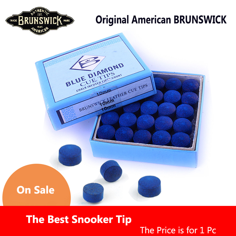 Original Authentic Blue Diamond Snooker Cue Tip 10mm 11mm One Piece Tip Billiard Accessories New Arrival Brunswick Tip