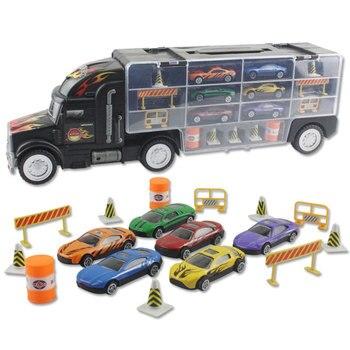Aluminiowy samochód garaż Model samochodu dzieci prezent zabawkowa ciężarówka samochód pojemnik interaktywny Mini