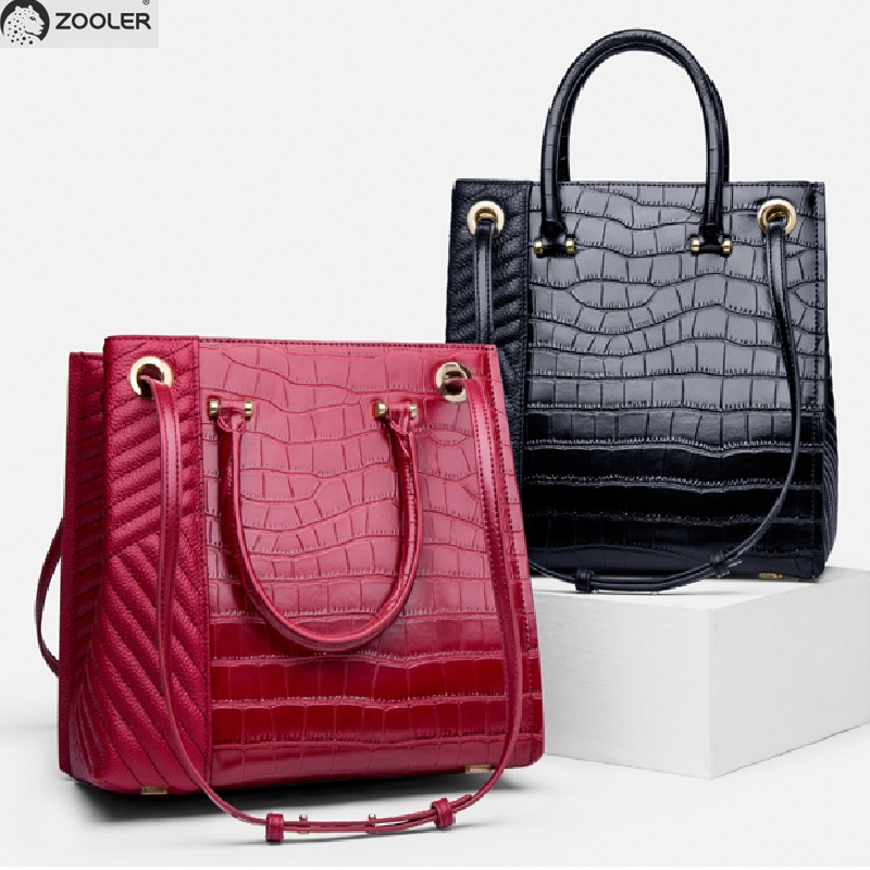 Business hot Real leather woman tote bag ZOOLER luxury handbags women bags large designer genuine leather