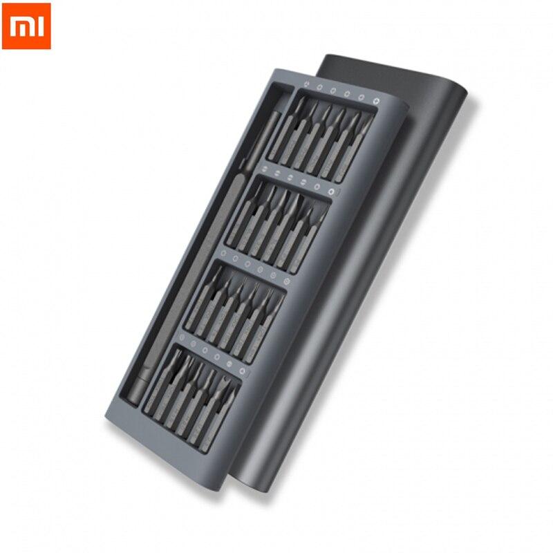 Image 2 - Лидер продаж, оригинальный набор отверток Xiaomi mijia Wiha для  ежедневного использования, 24 В 1, Прецизионная коробка с магнитными  битами, Набор отверток DIY для умного домаУмный пульт управления   -