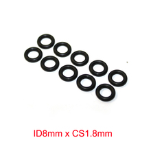 ID8mm x CS1.8mm Nitrile Rubber NBR O Ring Seal Sealing Gasket 10pcs oil resistant nbr nitrile butadiene rubber 2mm o ring sealing ring 18 5 28 3mm mechanical seal dichting rubber ring orings