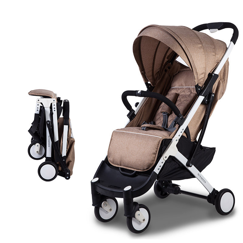 2018 baby stroller ultra-lightweight folding can sit can lie high landscape umbrella baby trolley hot sale style