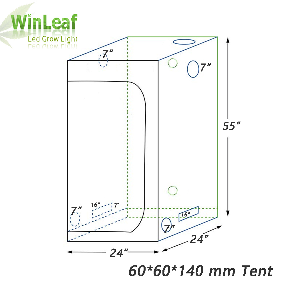 plants grow tent BOX for indoor hydroponics greenhouse plant lighting Tents 60 80 100 cm Growing