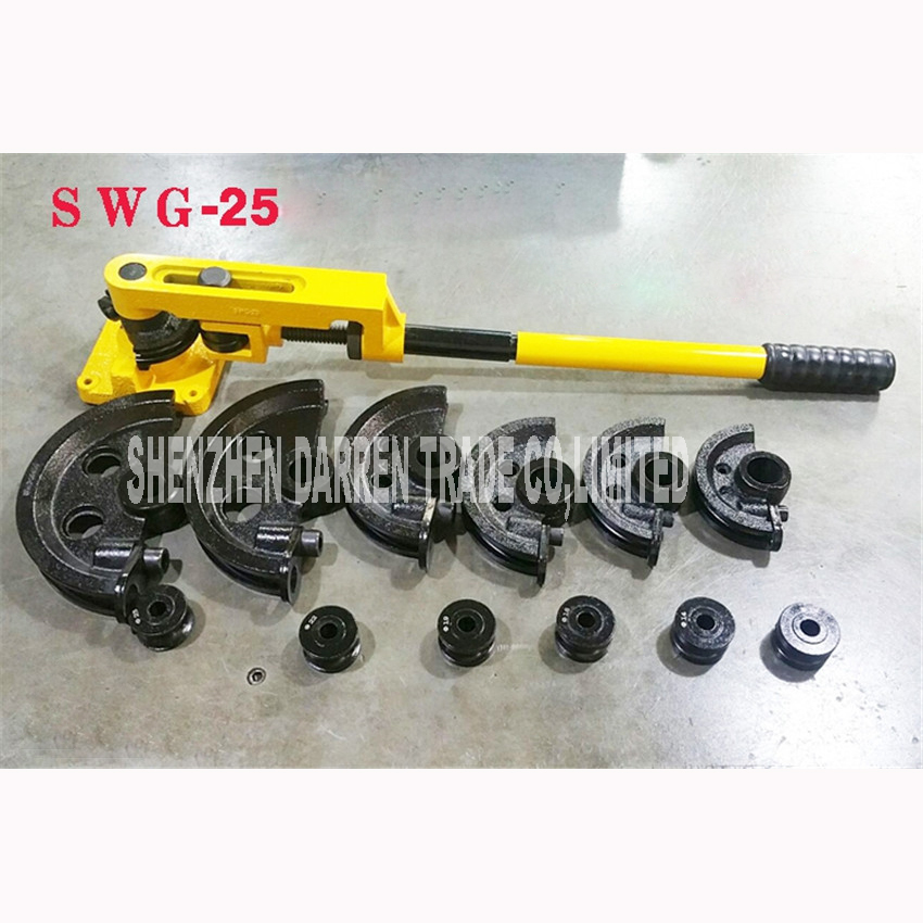 SWG-25 Manual pipe bender 10,12,14,16,19,22,25 (mm) Configuration die  pipe bends Pliers