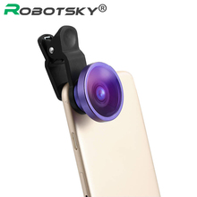 HD Phone Lens For iPhone 6 5S Samsung S6 S7 Edge Nikon Canon SONY Digital Super Wide Angle 0.4x Macro Lens Camera lens Kit