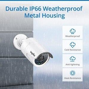 Image 5 - Kit de NVR Poe de red SANNCE 4CH 1080 P, sistema de seguridad CCTV, cámara IP de 2.0MP, sistema de cámara de vigilancia de visión nocturna infrarroja para exteriores