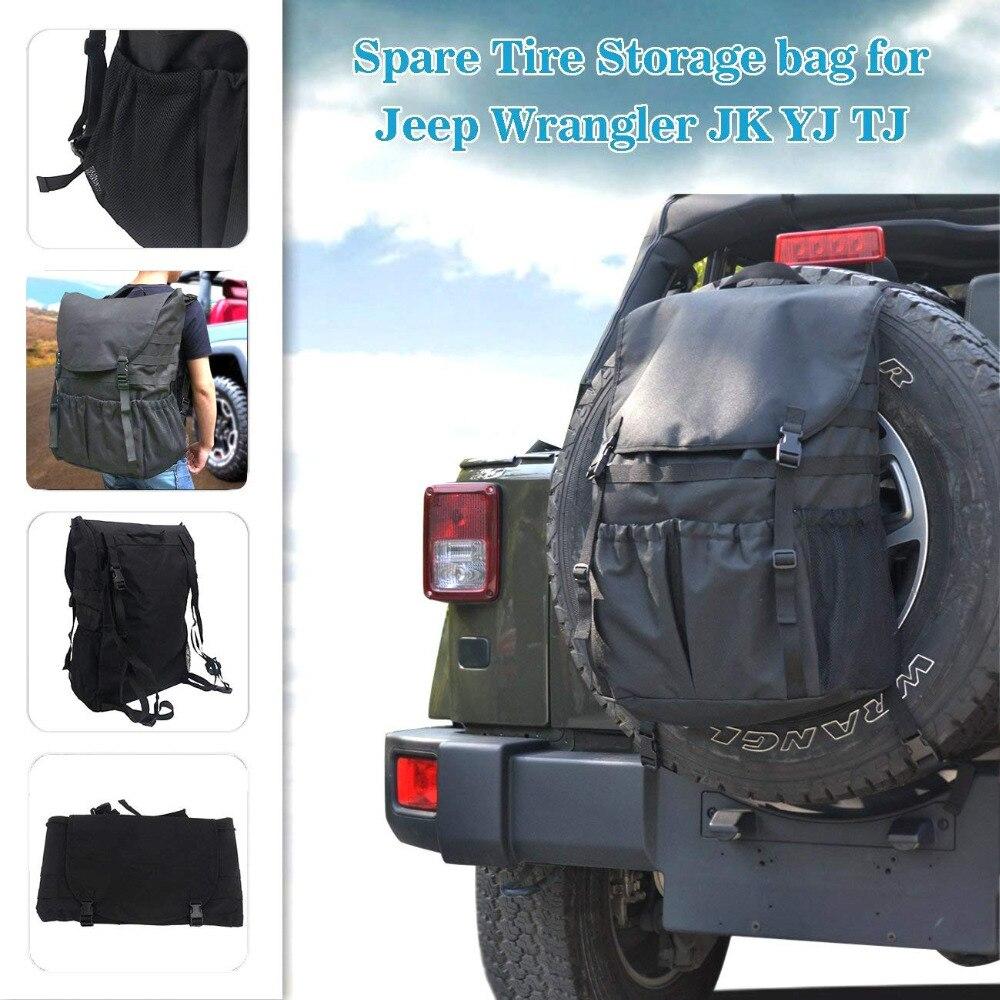Sac de rangement pour pneus de rechange organiseurs d'outils sacs de chargement pour Jeep Wrangler JK TJ YJ bagages multi-poches sac à dos porte-Gadget