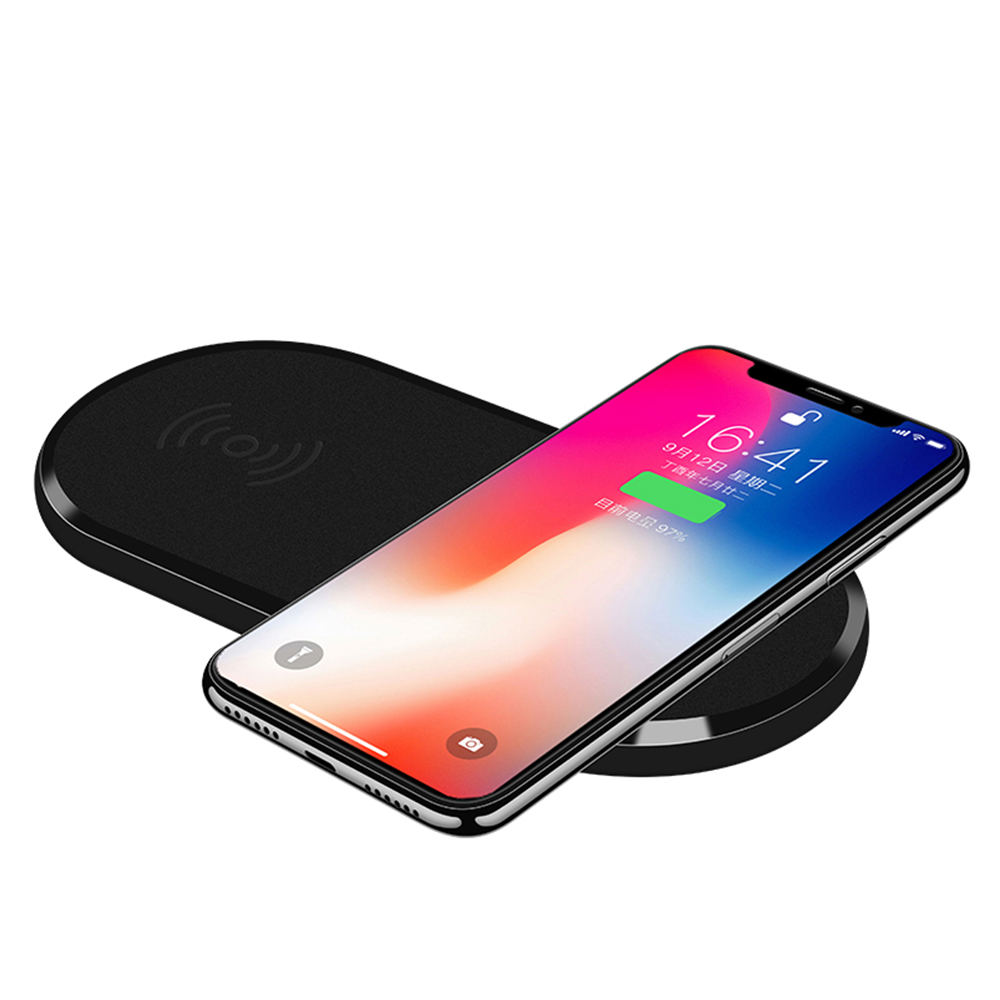 Wireless Charger 5W 2 in 1 Qi Wireless Charging Pad for iPhone XS Max/XS/X/XR/8 For Samsung S9/Note 8/S8 2 phone Double Seat