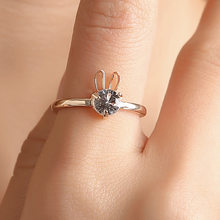 Super Cute Animal Rabbit Bunny Ring Vintage Wrap drop Shipping Adjustable Size(China)