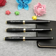 Classic metal pen with gold clip 50g/pc custom free your logo/phone on body or cap unique gift for new shop promos