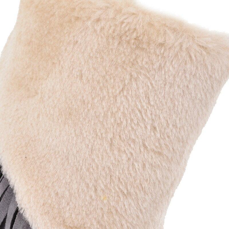 Mode Knöchel Enmayer Stiefel Runde Braun Größe Plus 34 Apricot Weibliche Frauen 42 Kappe Schuhe Slip brown Winter Schnee Gelb grau gelb on BwqzIFw