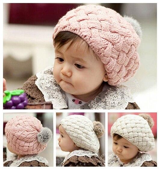 Rabbit fur beret hat for kids,baby girls caps beanies,baby hat crochet handmade photography props,Newborn winter hat #2C2511 защитный детский шлем