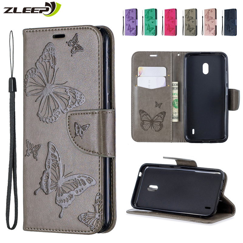 3D Butterfly Flip <font><b>Wallet</b></font> <font><b>Case</b></font> For <font><b>Nokia</b></font> 6.2 7.2 2.2 3.2 4.2 2.1 3.1 <font><b>5.1</b></font> Leather Card Holder For <font><b>Nokia</b></font> 1 <font><b>Plus</b></font> Stand Cover Carcasa image