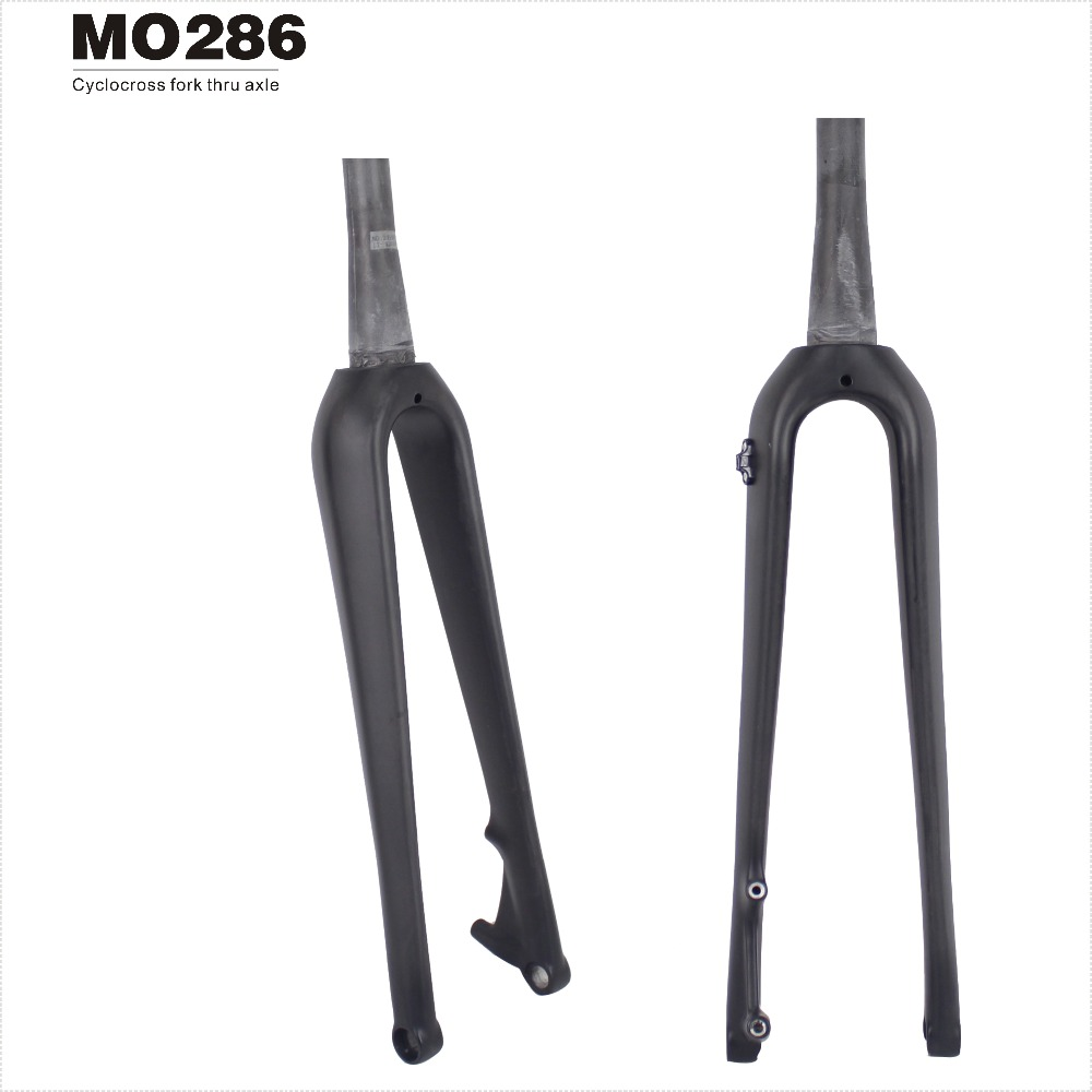MIRACLE Bikes Free Shipping Carbon Cyclocross Fork 700C Disc Brake Tapered CX 15*100mm include Thru Axle Skewer Carbon Fork miracle new design high modulus toray carbon fiber t700 142mm thru axle carbon cyclocross bikes frame
