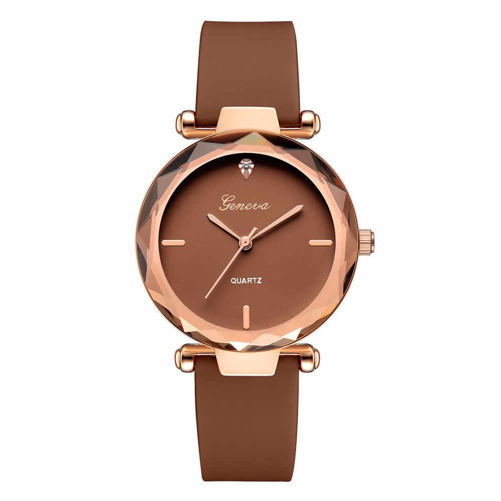2019 נשים שעונים חדש אופנה למעלה מותג יוקרה מזדמן נירוסטה עגול שחור עם Rhinestones קוורץ בציר Reloj Mujer