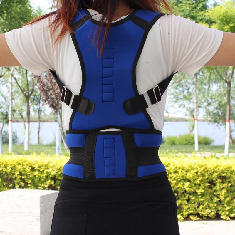 Men Women Adjustable Magnetic Posture Corrector Corset Back Brace Back Belt Lumbar Support Straight Corrector espalda S XXL in Back Support from Sports Entertainment