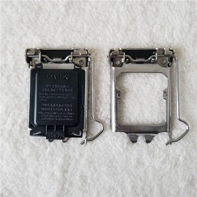 100 개/몫 원래 LGA115X CPU 소켓 커버 홀더 철 쉘 CPU Scket 보호