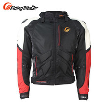 Riding Tribe Motorcycle Protective Jacket  Breathable Motocross Riding Body Armor Jacket Motorbike Jacket with 5 Protectors
