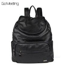 Go meetting женщины рюкзак кожаный Рюкзаки softback Сумки бренд мешок элегантный дизайн сумка Повседневная Рюкзаки подростков рюкзак мешок