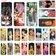 Lavaza Girl in the flowers Hard Phone Case for Apple iPhone 6 6s 7 8 Plus X 5 5S SE for iPhone XS Max XR Cover