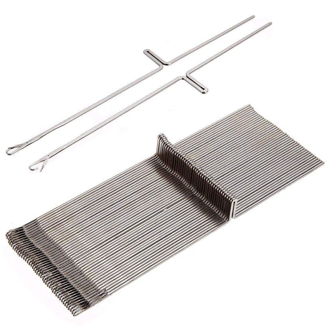 50pcs/set Knitting Machine Needle Steel Needles Set For Knitting Machine SK260 SK280 Mayitr Durable Fabric Sewing Tools