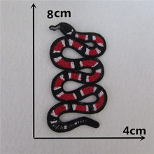 brand new fashion snake patch hot melt adhesive applique embroidery patches stripes DIY clothing accessory patch(China)