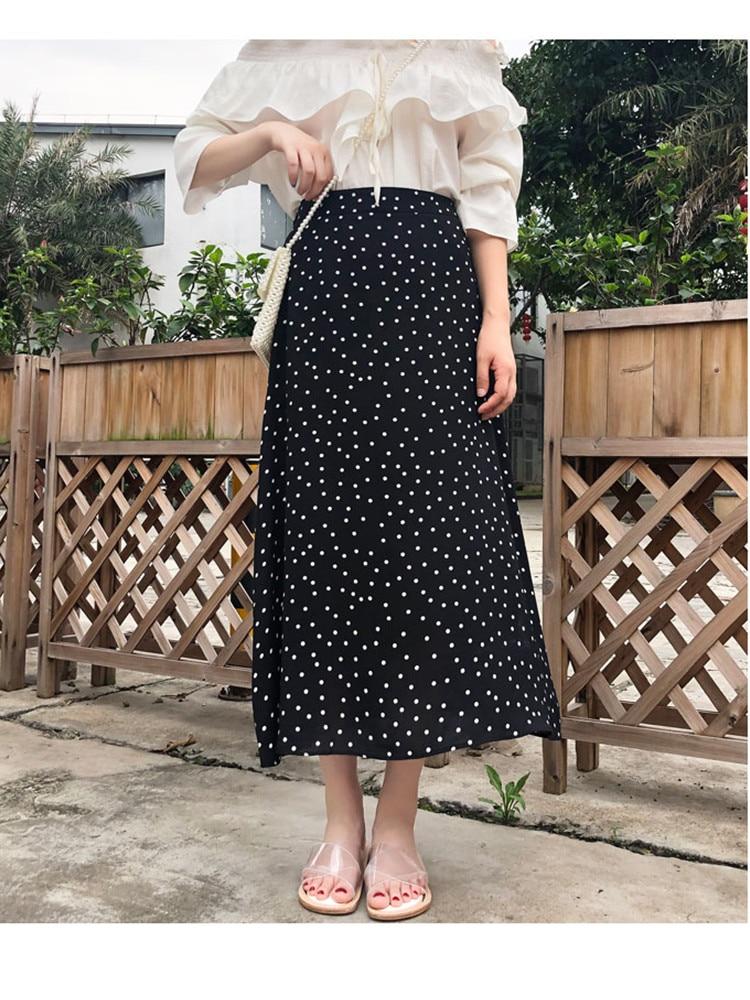 JUJULAND 2019 Bohemian High Waist Floral Print Summer Skirts Womens Boho Chiffon Skirt Maxi Long Skirts For Women Skirts 8172 in Skirts from Women 39 s Clothing