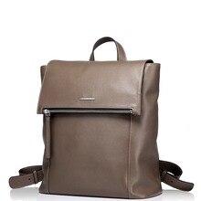 New Fashion Men's Zip Tassel Genuine Full Grain Leather Travel Backpack Casual Trend Rucksack Top Handle Bag