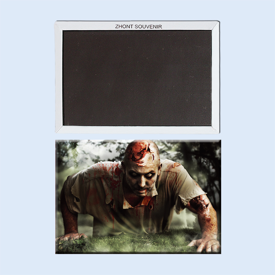 Fantasy Zombie Covered In Blood 22567 Gifts For Friends Landscape Magnetic  Refrigerator Travel Souvenirs