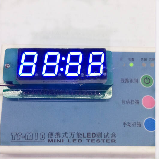 Common Anode/ Common Cathode 0.56 Inch Digital Tube Clock 4 Bit Digital Tube Led Display 0.56inches Blue Digital Tube