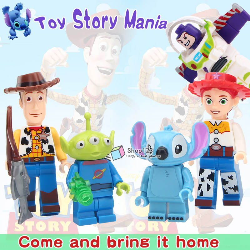 Blocks Collection Here 80pcs Starwars Superhero Toy Story Buzz Lightyear Woody Building Blocks Action Bricks Friends For Girl Kids Children Toys