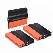FOSHIO 5PCS Vinyl Wrap Sticker Magnet Squeegee Window Tint Suede Edge Magnetic Scraper Carbon Fiber Styling Tool Car Accessories