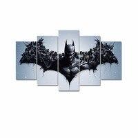 5 painel HD impresso pintura da lona modular Batman cópia da lona arte moderna home decor wall art pictures para sala de estar F0315