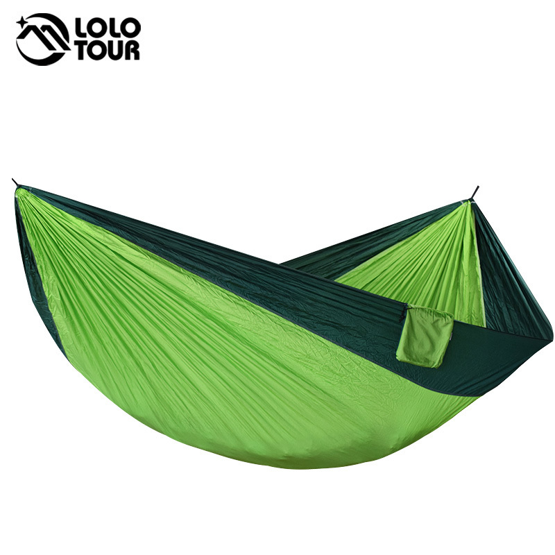 320*200cm Large Portable Hammock Swing High Strength Hamac 2-3 Person Hanging Sleeping Bed Chair Hamak outdoor double hammock portable parachute cloth 2 person hamaca hamak rede garden hanging chair sleeping travel swing hamac