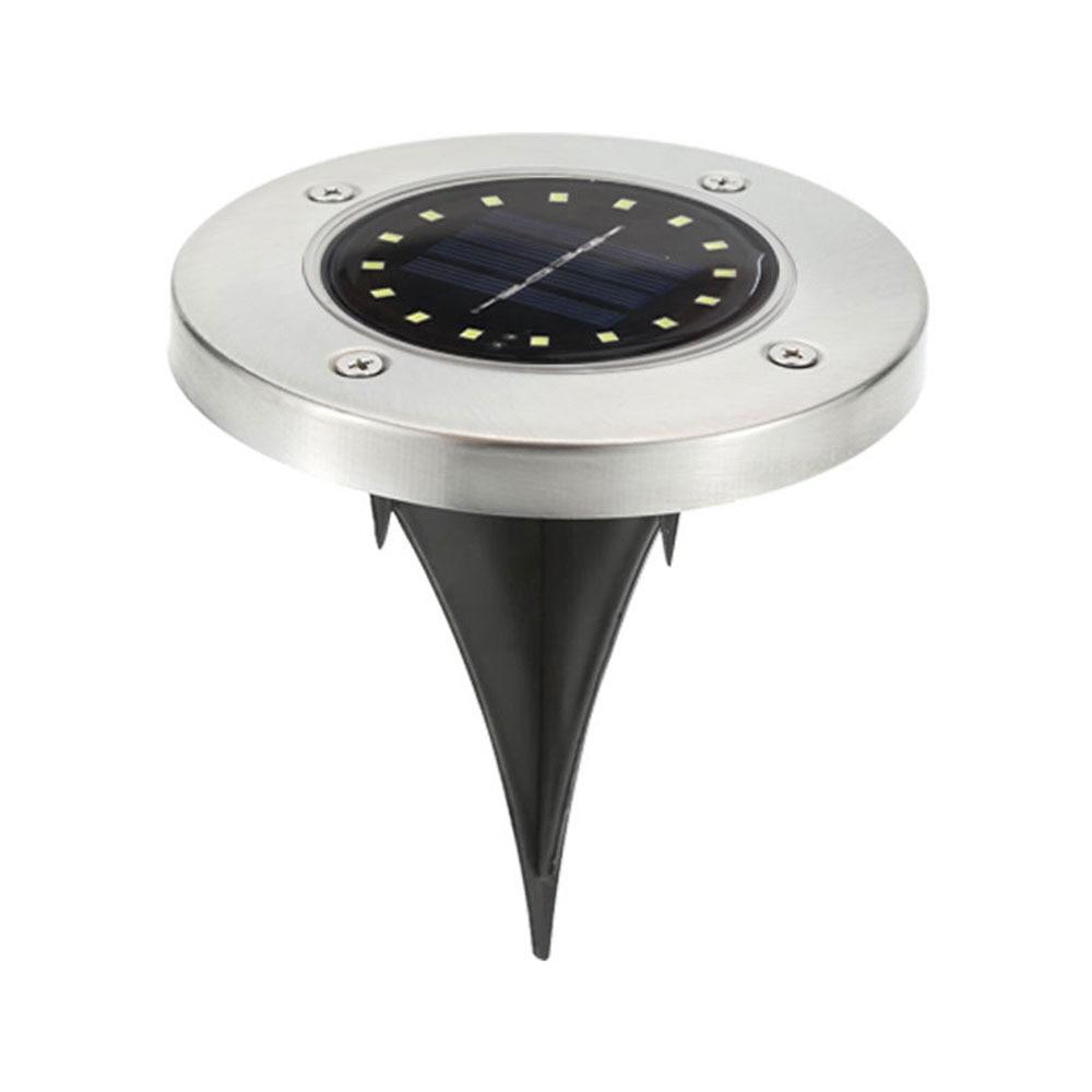 16 Светодиодный светильник на солнечной энергии садовый настил, погребенный свет, напольный наземный светильник, прочные огни безопасности, ландшафтный свет, садовый светильник - Испускаемый цвет: 2