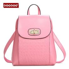Doodoo Модельер Высокое качество Искусственная кожа рюкзак сумка женские рюкзаки для девочек студентов однотонная винтажная школьные сумки