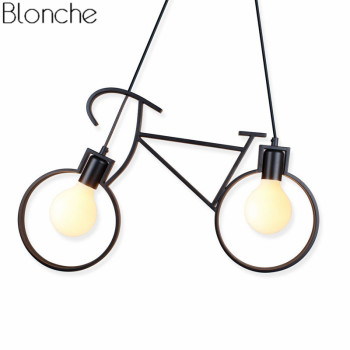 Vintage Bicycle Pendant Light Creative Loft Hanglamp Luminaire For Bedroom Home Decor Pendant Lamp Child Gift Lighting Fixtures