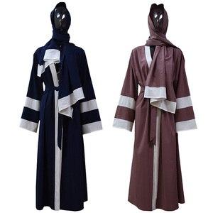 Женское кимоно-кардиган Abaya, мусульманское платье с хиджабом, кафтан, турецкая исламская одежда, 2019
