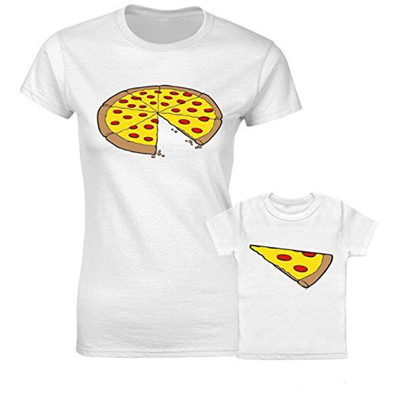 Fashion Pizza Short Sleeve Family Matching T Shirt