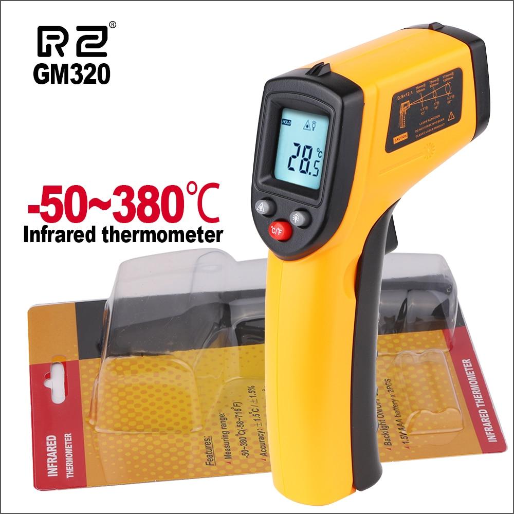 RZ Termometri Termometro A Infrarossi del Laser IR del Termometro Digitale Temperaure di Controllo Del Sensore di GS320 GM320 Palmare Termometri
