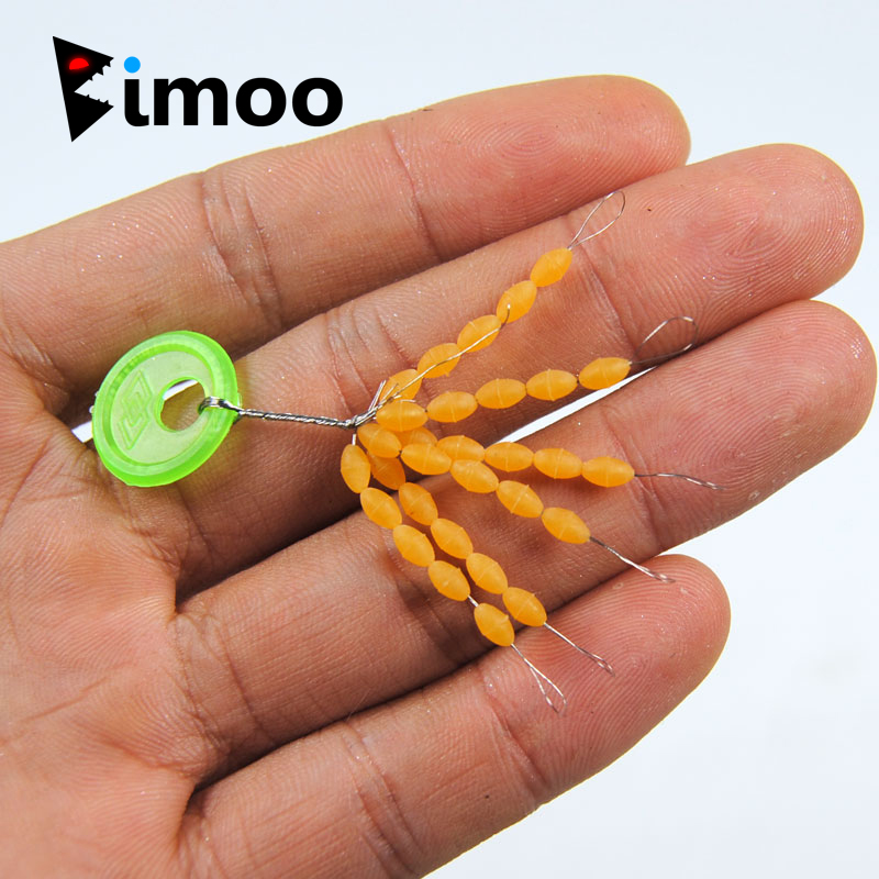 Bimoo 2pcs = 60 Stops Premium Carp Fishing Rubber Stops For Rigging Float Lead Positioning Fishing Tackle Accessories