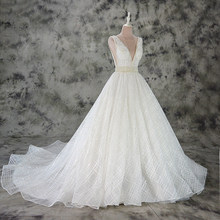 5957010a9874 Vestido de Noiva A line lace wedding dress sexy deep v neck lace wedding  gown custom made factory wholesale price bridal dress