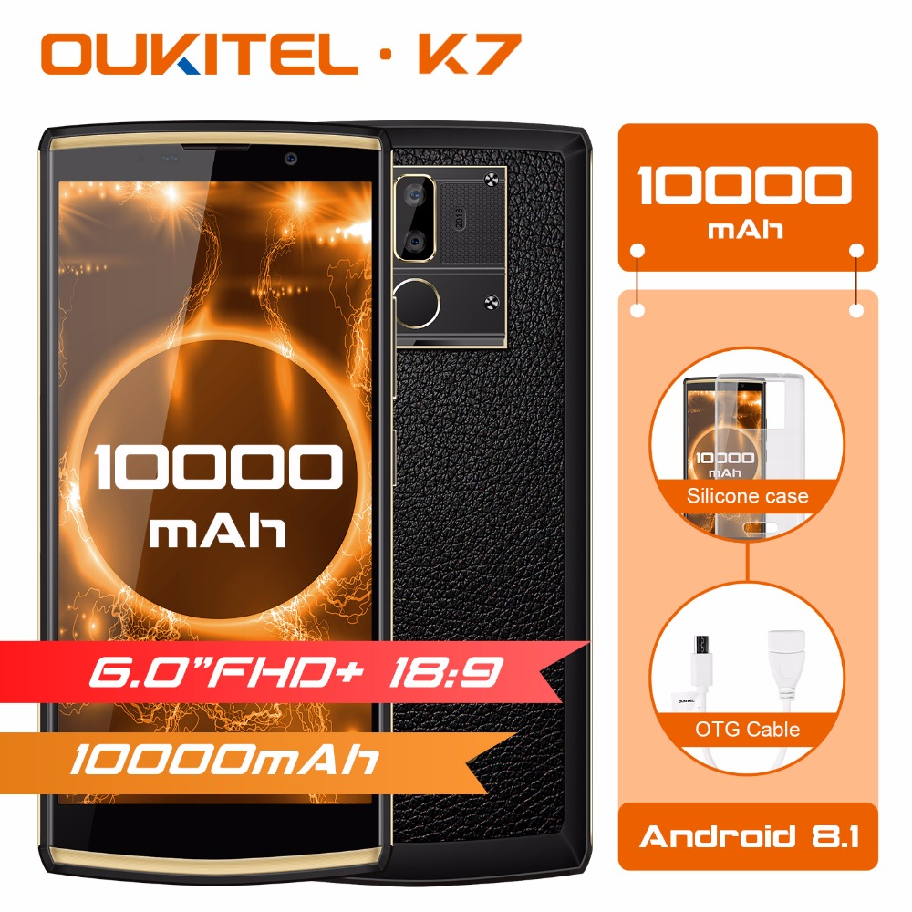 OUKITEL K7 Android 8 1 6 0 FHD 18 9 MTK6750T 4G RAM 64G ROM 10000mAh