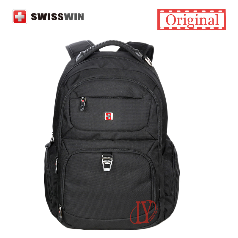 0f7b1d1167 Swisswin wenger Men s Laptop Backpack Designer Backpack for Women Waterproof  Business Travel Backpack Male mochilas Laptop Bag-in Laptop Bags   Cases  from ...