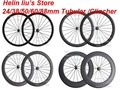 Factory price!! 24mm 38mm 50mm 60mm 88mm Clincher Tubular carbon fiber bike road wheels bicycle racing wheelset