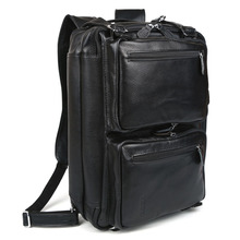 TIDING men's Real Leather Business Travel Laptop Bags Carry on Hand bag Briefcase Shoulder Bag 3013