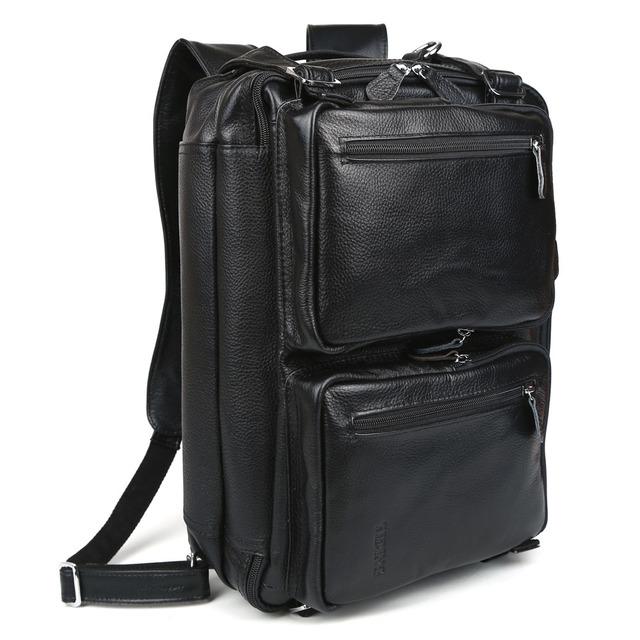 Tiding cuero real de los hombres llevan en bolsos de mano portátil para viajes de negocios bolso maletín 3013