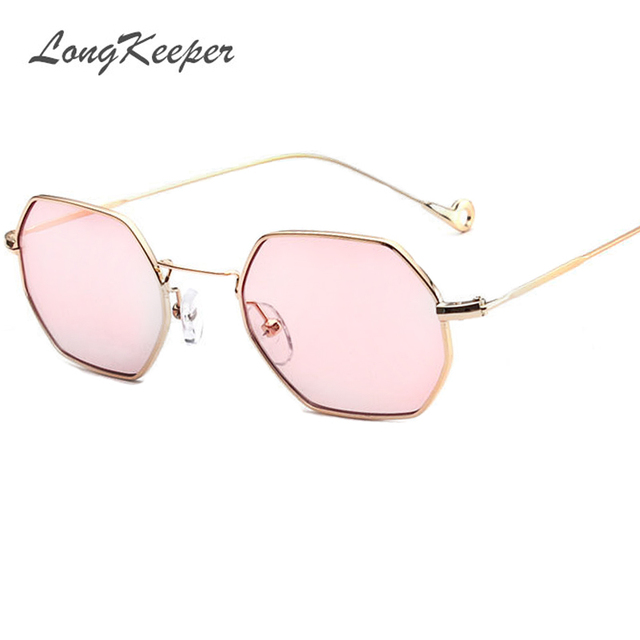 22c0735ba9 Trends Women Sunglasses Small Frame Polygon Clear Lens Sunglasses Brand  Designer Men vintage Sun Glasses Hexagon Metal Frame